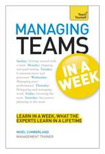 Managing Teams in a Week: Teach Yourself