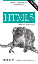 HTML5 Pocket Reference 5ed
