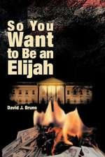 So You Want to Be an Elijah