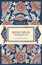 Rose Gold Notebook Set:  Two Foil-Stamped Notebooks