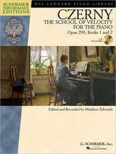 Carl Czerny - The School of Velocity for the Piano, Opus 299, Books 1 and 2:  Includes Access to Online Audio of Full Performances