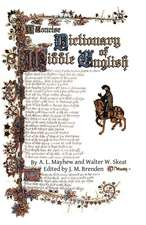 A Concise Dictionary of Middle English