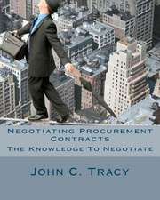 Negotiating Procurement Contracts