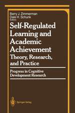 Self-Regulated Learning and Academic Achievement: Theory, Research, and Practice