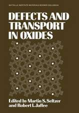 Defects and Transport in Oxides