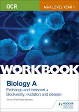 OCR AS/A Level Year 1 Biology A Workbook: Exchange and Transport; Biodiversity, Evolution and Disease