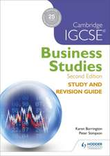 CAMBRIDGE IGCSE BUSINESS STUDI