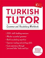 Turkish Tutor: Grammar and Vocabulary Workbook (Learn Turkish with Teach Yourself) : Advanced beginner to upper intermediate course