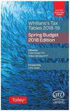 Whillans's Tax Tables 2018-19 (Budget edition)