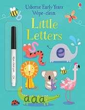 Wipe Clean Little Letters