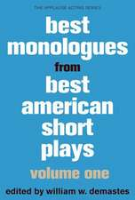 Best Monologues from Best American Short Plays, Volume One