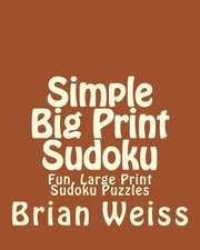 Simple Big Print Sudoku