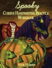 Spooky Cursive Handwriting Practice Workbook