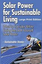 Solar Power for Sustainable Living