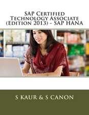 SAP Certified Technology Associate (Edition 2013) - SAP Hana