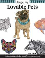 Tangleeasy Lovable Pets:  Design Templates for Zentangle(r), Coloring, and More