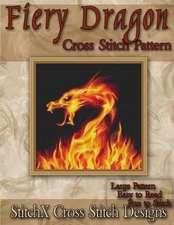 Fiery Dragon Cross Stitch Pattern