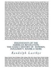Descendants of the American Revolution