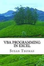 VBA Programming in Excel