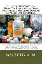Guide and Strategy on How to Start Your Own Profitable Million Dollar Supplement Business.