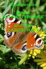 Bunte Schmetterlinge in Schoner Landschaft