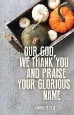 Our God Thanksgiving Bulletin (Pkg of 50)