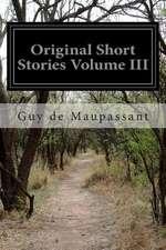 Original Short Stories Volume III