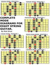 Complete Mode Diagrams for Eight String Guitar