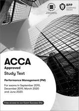 ACCA PM Performance Management Study Text 2019