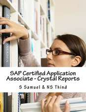 SAP Certified Application Associate - Crystal Reports