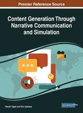 Content Generation Through Narrative Communication and Simulation