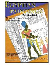 Egyptian Paintings Coloring Book