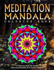 Meditation Mandala Coloring Book - Vol.19