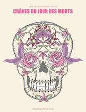 Livre de Coloriage Pour Adultes Cranes Du Jour Des Morts 1