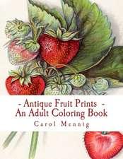 Antique Fruit Prints - An Adult Coloring Book