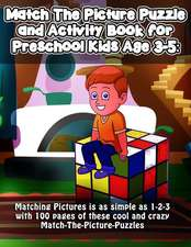 Match the Picture Puzzle and Activity Book for Preschool Kids Age 3-5