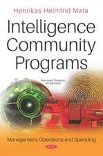 Mata, H: Intelligence Community Programs