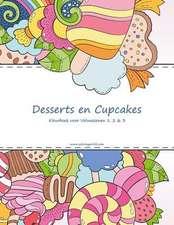 Desserts En Cupcakes Kleurboek Voor Volwassenen 1, 2 & 3