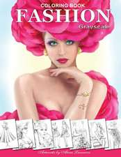 Fashion Coloring Book. Grayscale