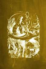 Alice in Wonderland Chalkboard Journal - Alice and the Caterpillar (Yellow)