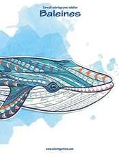 Livre de Coloriage Pour Adultes Baleines 1