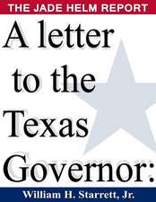 A Letter to the Texas Governor