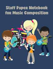 Staff Paper Notebook for Music Composition