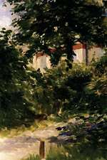 """""""A Corner of the Garden in Rueil"""" by Edouard Manet - 1882"""
