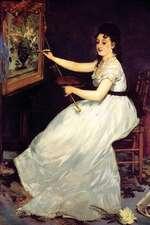 """Portrait of Eva Gonzales"" by Edouard Manet - 1870"