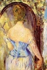 """""""Woman Before a Mirror"""" by Edouard Manet - 1877"""