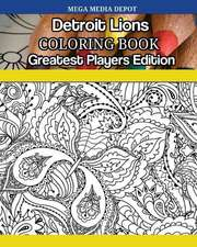Detroit Lions Coloring Book Greatest Players Edition