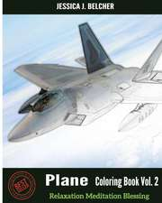 Plane Coloring Books Vol.2 for Relaxation Meditation Blessing