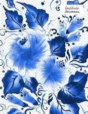 Gratitude Journal - Indigo Blue Flowers