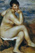 150 Page Lined Journal Bather Seated on the Stone, 1880 Pierre Auguste Renoir